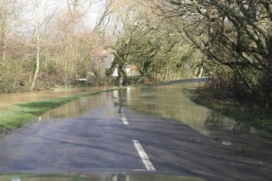 flooding in almodington lane